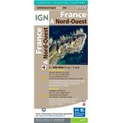 CARTE IGN 1:500 000e NORD-OUEST 2020 (VERSION PLASTIFIEE)