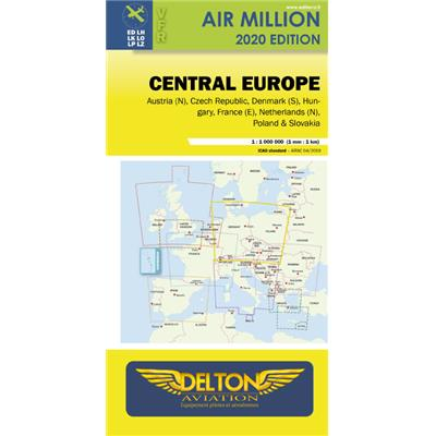 Carte VFR AIRMILLION EUROPE CENTRALE 2020